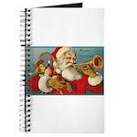 Merry Christmas Santa - Horn Playing Santa Journal