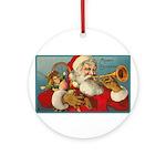 Merry Christmas Santa - Horn Playing Santa Ornamen