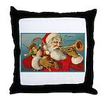 Merry Christmas Santa - Horn Playing Santa Throw P