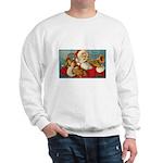 Merry Christmas Santa - Horn Playing Santa Sweatsh
