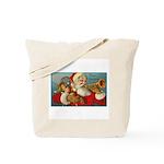 Merry Christmas Santa - Horn Playing Santa Tote Ba
