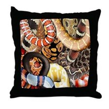 Snake Collage Throw Pillow