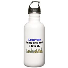 Louisville Is My City And I Love It Water Bottle