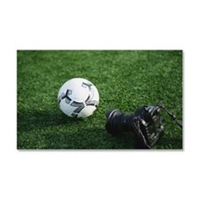 Soccer ball and camera Car Magnet 20 x 12