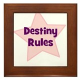 Destiny Rules Framed Tile