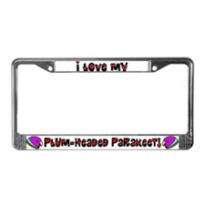 Anime Plum Headed Parakeet License Plate Frame