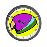 Anime Male Plum-Headed Parakeet Clock
