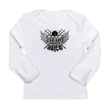 SEALgrinderPT skull logo Long Sleeve Infant T-Shir