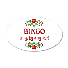 Bingo Joy 20x12 Oval Wall Decal