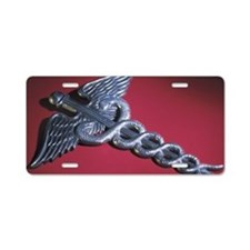 Caduceus Aluminum License Plate