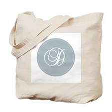 Grey Medallion Monogram D Tote Bag