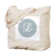 Grey Medallion Monogram L Tote Bag