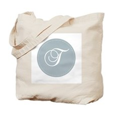 Grey Medallion Monogram T Tote Bag