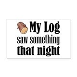 Log Lady Rectangle Car Magnet