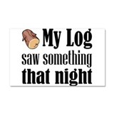 Log Lady Car Magnet 20 x 12
