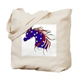 Funny Stallion Tote Bag