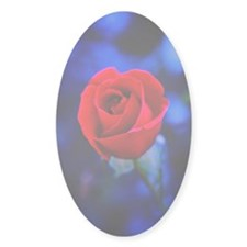 Stained Glass Rose Decal