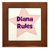 Diana Rules Framed Tile