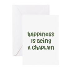 Happiness Is Being A CHAPLAIN Greeting Cards (Pack