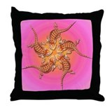 Baby Bearded Dragon Throw Pillow (Pink)