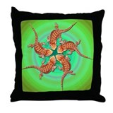 Baby Bearded Dragon Throw Pillow (Green)