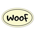 WOOF - Dog Oval Sticker