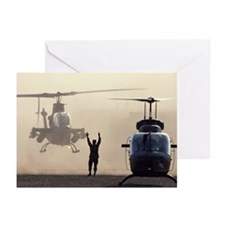 Military helicopter land Greeting Cards (Pk of 10)