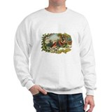 Victorian Winter Scene - Birds Sweatshirt
