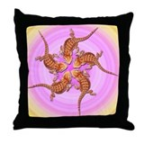 Baby Bearded Dragon Throw Pillow (pink & yellow)