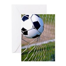 Close-Up of a Football T Greeting Cards (Pk of 10)