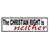 Christian Right Bumper Car Sticker