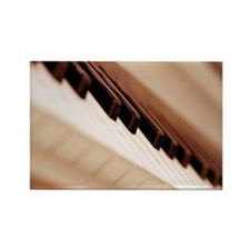 Piano keyboard, close-up Rectangle Magnet