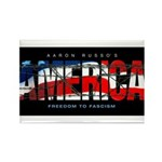 America-B Rectangle Magnet