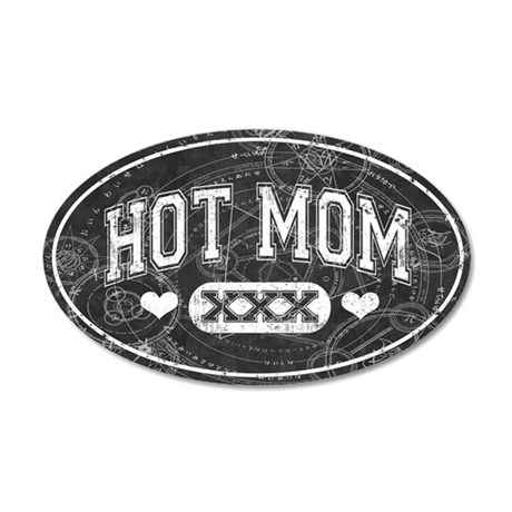 Hot Mom 35x21 Oval Wall Decal