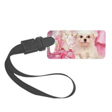 Maltese Dog Luggage Tag