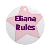 Eliana Rules Ornament (Round)