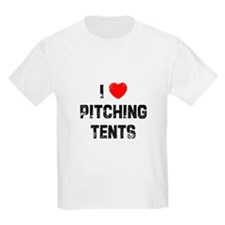 I * Pitching Tents Kids T-Shirt