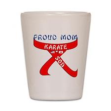 Proud Mom Karate Son Shot Glass
