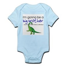 Gonna be big brother (dinosaur) Infant Bodysuit