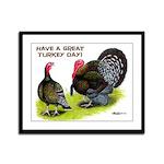Turkey Day Framed Panel Print