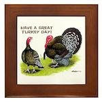 Turkey Day Framed Tile