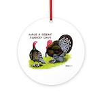 Turkey Day Ornament (Round)