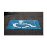 handicap parking Wall Sticker