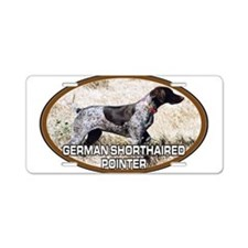 Unique German shorthaired pointer Aluminum License Plate