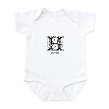 Hayden: Fancy Monogram Infant Bodysuit