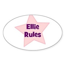 Ellie Rules Oval Decal