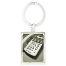 Telephone, High Angle View Portrait Keychain