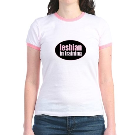 Lesbian in Training Jr. Ringer T-Shirt