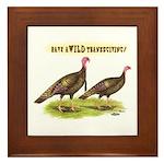 Wild Thanksgiving! Framed Tile