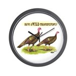 Wild Thanksgiving! Wall Clock